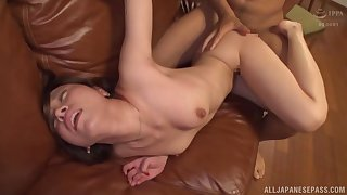 Busty amateur girl hard fucked by the BF and jizzed on face