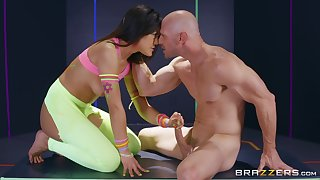 clothed sex is what horny asian Kendra Spade prefers with this dude